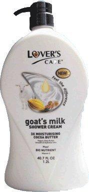 Lover's Care Goat's Milk Shower Cream 3x Moisturising plus Bio Nutrient (Almond Oil and Cocoa Butter) by Lover's Care - Almond Milk Bath Salts