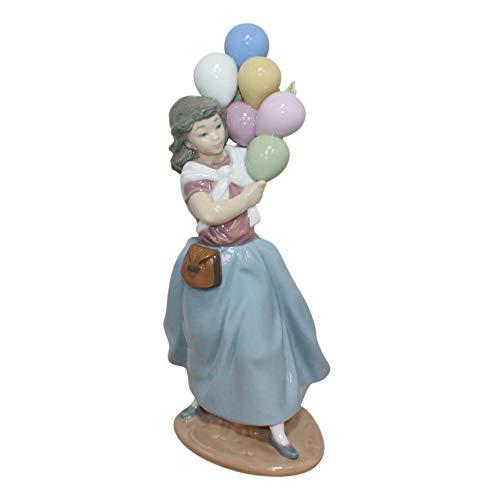 """Lladro Balloon Seller """"Vendedora de Globos"""" Collectible Porcelain Figurine Sculpture Discontinued Retired 1996"""