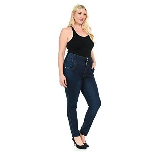 Pasion Women&39s Jeans - Plus Size - High Waist - Push Up - Style