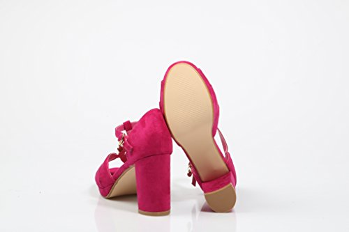 XTI Damen Pumps Fuchsia