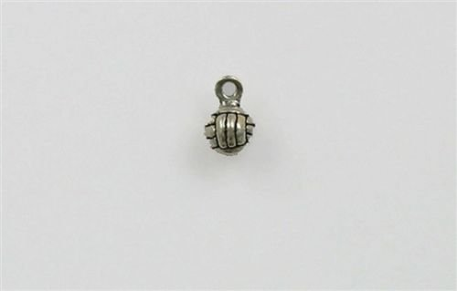 Sterling Silver 3-D 10mm Volleyball Charm - Jewelry Accessories Key Chain Bracelet Necklace ()