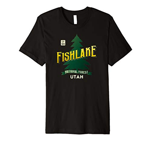 Fishlake National Forest Retro Logo Utah Premium T-Shirt