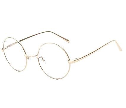 5c3cdd714 Metal Full Frame Eyewear Retro Korean Style Round Clear Lens Glasses ...