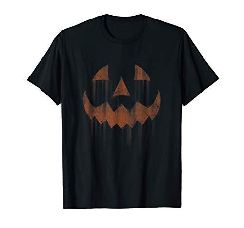Scary Jack O'Lantern Halloween Horror Pumpkin Face  T-Shirt