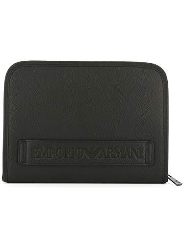 Pochette Portafoglio Piatta Emporio Black Zip Armani O0v7qvwAa