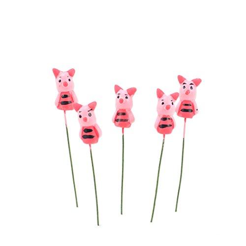 Bear Honey Pink Animal Cartoon Miniature Fairy Garden Ornament Decor Pot DIY Bonsai Plant Craft Accessories Dollhouse Figure from DollNUT