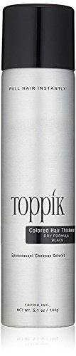 TOPPIK Colored Hair Thickener, Black, 5.1 oz.