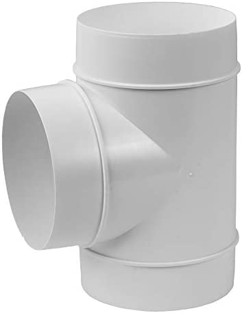 canal de salida de aire para sistema de ventilaci/ón Tubo redondo en forma de T di/ámetro de 125 mm