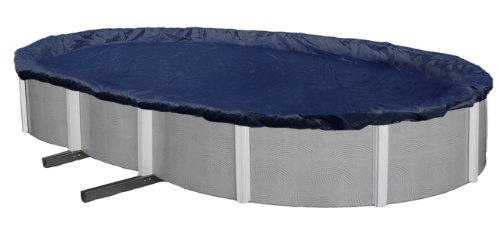 Blue Wave Bronze 8-Year 12-ft x 24-ft Oval Above Ground Pool Winter (Ground Winter Cover)