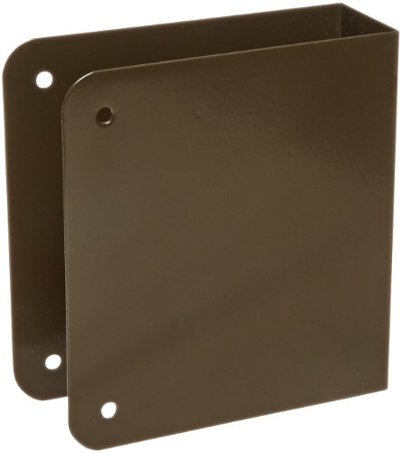 Don-Jo 70-CW 22 Gauge Stainless Steel Blank Wrap-Around Plate with Trim Screw, Oil Rubbed Bronze Finish, 4-1/4