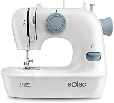 Solac SW8220 Cotton 12 Máquina de Coser mecánica, Multicolor ...