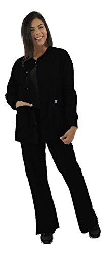 Spectrum Scrub Jackets Doctor Coat-Crew Neck Multi Pocket Unisex Uniforms S (Crewneck Warm Up Jacket)