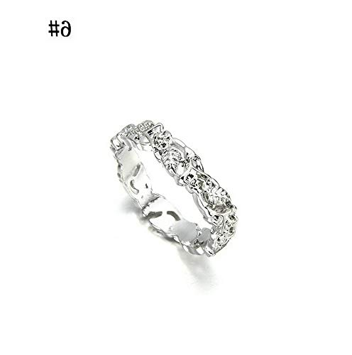 - Rhame Fashion Women 14K Solid Rose Gold Stack Twisted Ring Wedding Party Women Jewelry | Model RNG - 8579 | 10