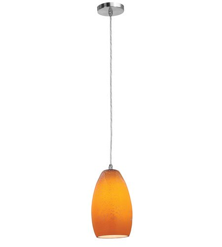 Access Lighting 28312-BS/MYA Shava Inari Silk Mini Pendant Light