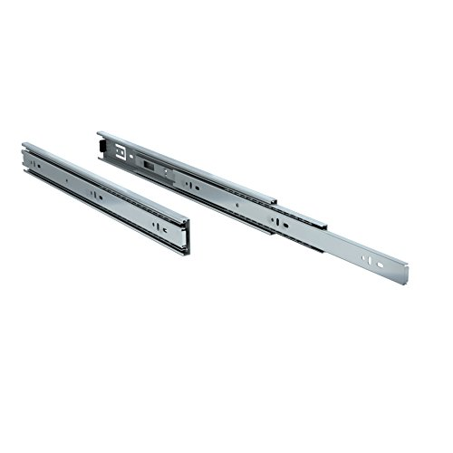 TCH Hardware 2 x 18 inch 100 LB Steel Full Extension Ball Bearing Drawer Slides - Kitchen Cabinet Desk Draw by TCH