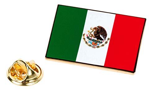 PinAddict Mexico Flag Lapel Pin Patriotic Mexican Tie Tack Snake Eagle Emblem - Flag Emblem Lapel Pin