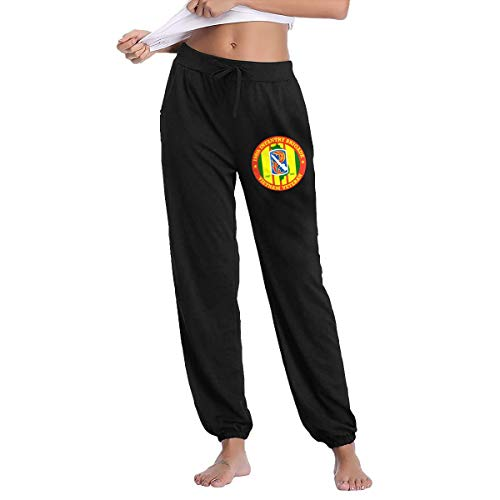 198th Light Infantry Brigade Vietnam Veteran Women's Joggers Sweatpants Cotton Long Pants with - Light 198th