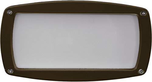 DABMAR LIGHTING DSL1073-BZ Recessed Open Face Brick/Step/Wall Light, Bronze