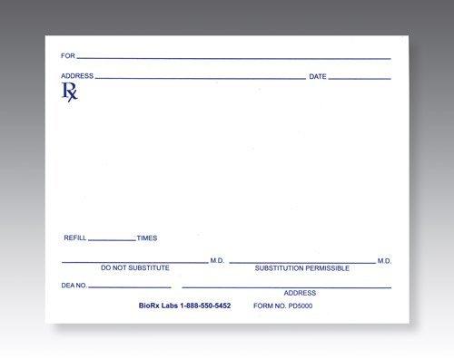 Generic Prescription Pads - Pharmacy Pads - Pack of 10 pads (100 sheets per pad)