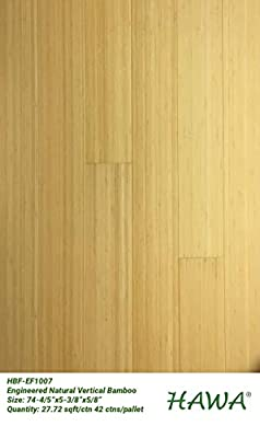 Engineered Natural Vertical Bamboo Floor