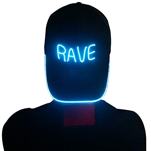 RaveLife Light up Baseball Caps (Aqua)