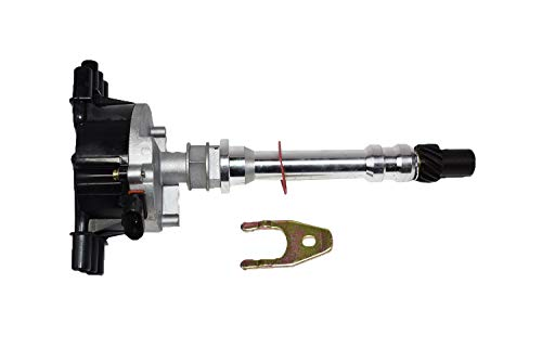 A-Team Performance Complete EFI Distributor 6 Cylinders Vortec 1995-2007 Compatible With Chevy GM V6 4.3L Black Cap