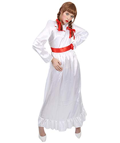 Halloween Party Online Women's Annabelle Costume, White Medium -