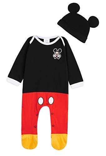 Disney Tutina Neonato di Topolino, Tutine Mickey Mouse da 0 a 24 Mesi, Pigiama Intero Bambina con Cappello, Pagliaccetto… 1