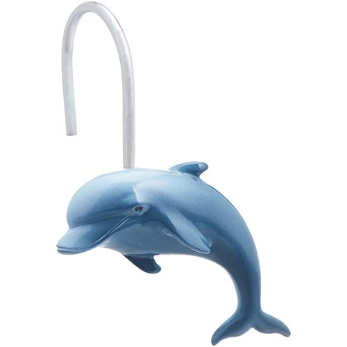 AmazonBasics Kids' Shower Curtain Hooks - Dolphin