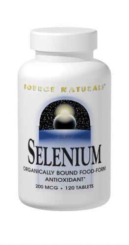 Source Naturals sélénium, 200mcg, 120 comprimés (lot de 3)