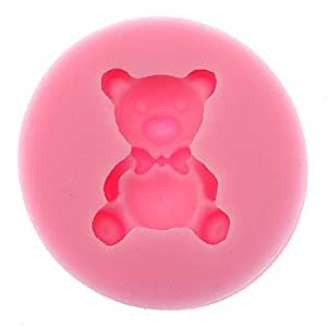 KAifaj 3D Bear Shaped Silicone Cookie Biscuit Mold