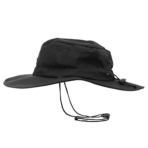 Frogg Toggs Waterproof Breathable Boonie Hat, Black, Adjustable
