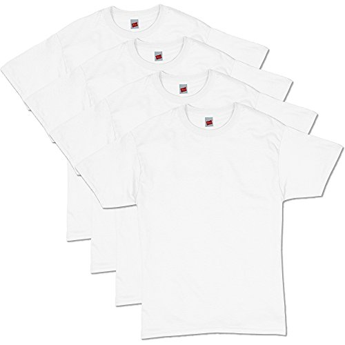 (Hanes Men's Comfortsoft T-Shirt (Pack Of 4),White,Large)