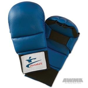 NKF USA Karate Sparring Gloves - Blue - Small by NKF