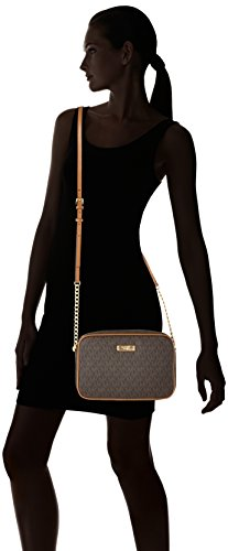 Michael Kors Women's Jet Set Large Crossbody Bag, Brown, OS