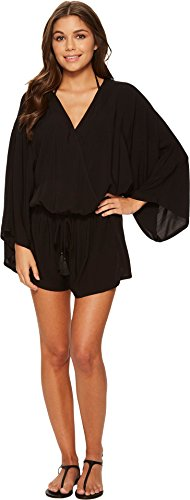 Vince Camuto Women's Riviera Solids Cover-Up Romper Black X-Small/Small by Vince Camuto