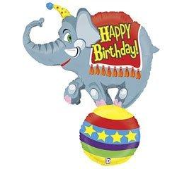 Betallic Circus Elephant Jumbo Foil Balloon (Gray) Party Accessory