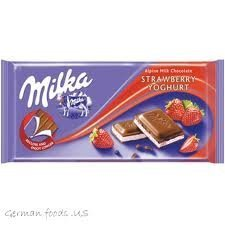 Milka - Strawberry Joghurt 100g (Pack of 3) (Strawberry Yogurt Chocolate)