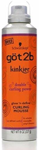 Curl Shine Weightless Curling Gel - got2b Kinkier Curling Mousse 8 oz (Pack of 4)