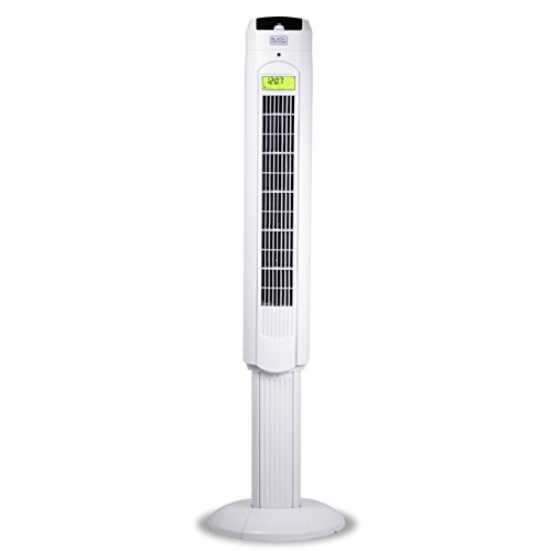 Black & Decker 48 in. Tower Fan with Remote, White