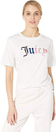 (Juicy Couture Women's Juicy Mixed Gothic Tee White X-Large)