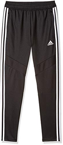 adidas Youth Soccer Tiro Training Pants, Black/White, Medium