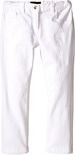 Dolce & Gabbana Kids Baby Girl's Denim Pants In White/Denim (Toddler/Little Kids) White/Denim 6 (Little Kids) X One Size by Dolce & Gabbana