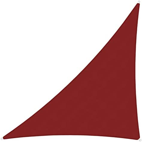 TANG Sunshades Depot 19'x24'x31' Right Triangle Red Waterproof 260 GSM Customize Order Sun Shade Sail Curved Edge