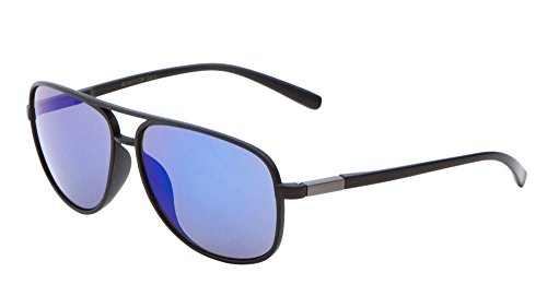 Sport Aviator Sunglasses Color Mirror Lens Active Lifestyle Men Women Eyewear (Purple)