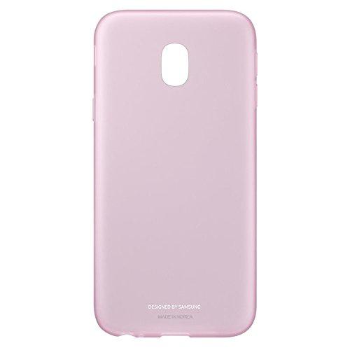 Samsung Jelly Cover Funda Rosa, Transparente - Fundas para teléfonos móviles (Funda, Samsung, J3 2017, Rosa, Transparente)