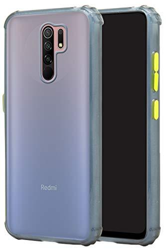 jkobi Rubberised Soft Shockproof Smoke Back Case Cover for Xiaomi Mi Redmi 9 Prime  Blue