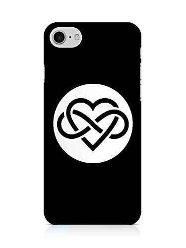 COVER Unendlich Liebe Grafik schwarz weiss Design Handy Hülle Case 3D-Druck Top-Qualität kratzfest Apple iPhone 7