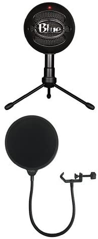 Blue Microphones Snowball iCE Condenser Microphone Cardioid White with Dragonpad Pop Filter