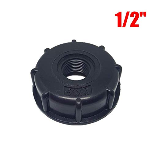 trunbom Water Connectors - 1/2 inch 3/4 inch 1 inch Thread IBC Tank Adapter Tap Connector Replacement Valve Fitting for Home Garden Water Connectors (1/2